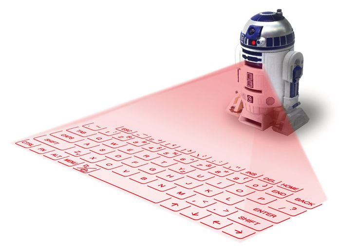 Cooles Technik Gadget fürs Mobile Office: Virtuelle Tastatur als R2-D2 getarnt