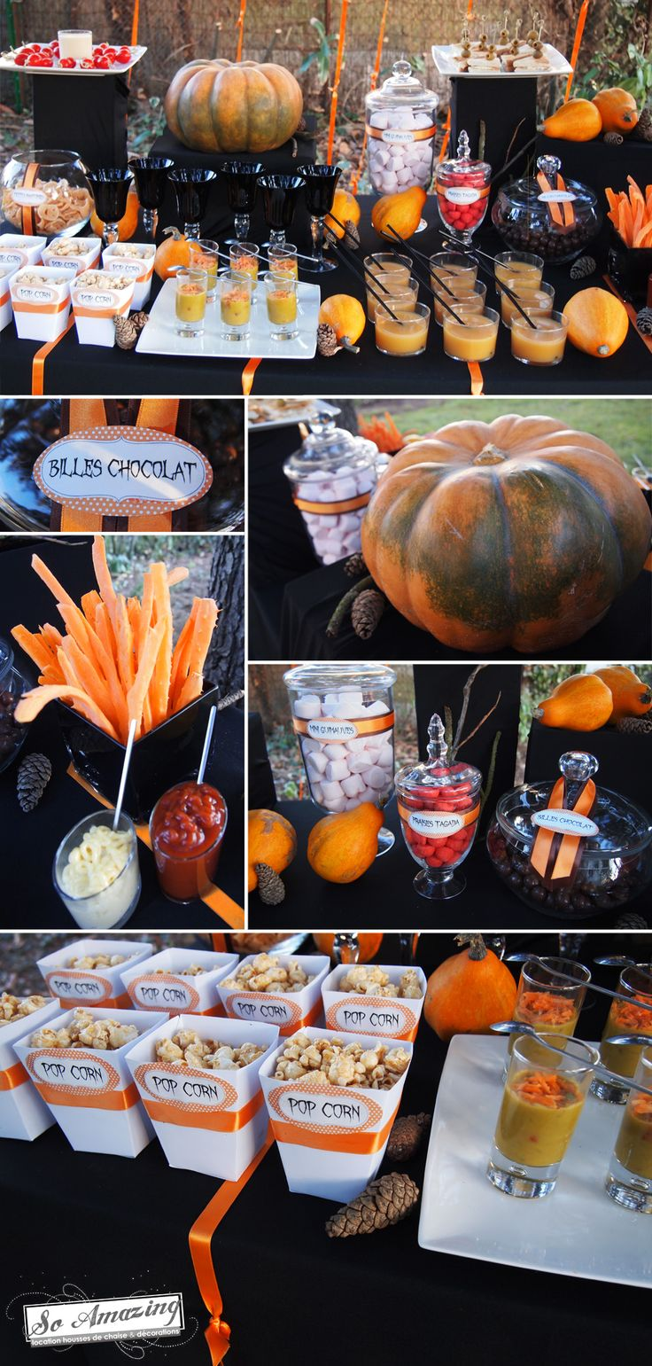 Best 25 halloween buffet ideas on pinterest halloween for Idee decoration porte halloween