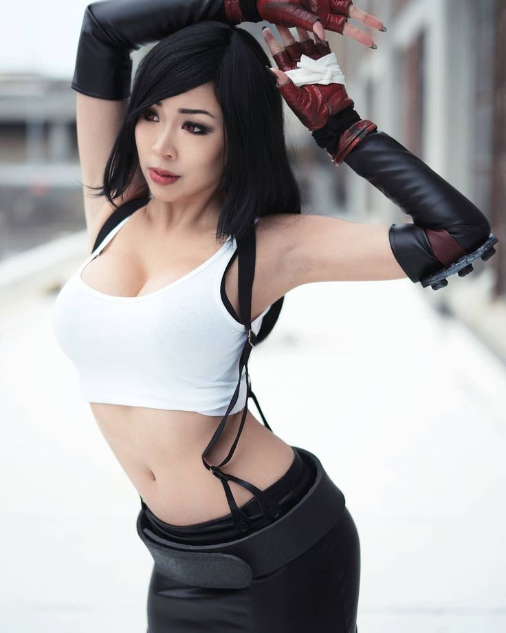 Asian Cosplay Girls Tifa Final Fantasy Kawaii 1