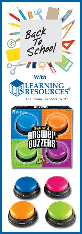 Answer Buzzers! Bring excitement to any classroom test with these interactive game show-style buzzers.