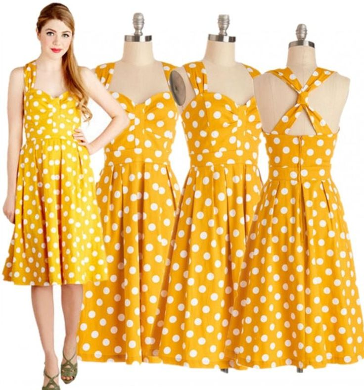 long sleeve casual dresses for juniors of various models and colors, if you need the top class texture of graduation maxi dresses and latest design of summer dresses floral, just search 50s retro style lemon yellow vintage dress polka dot pin up halter dress rockabilly dress party dress from sherrychan88.
