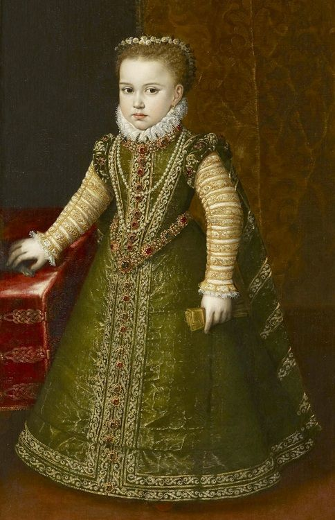Infantas Isabella Clara Eugenia and Catalina Micaela of Spain by Studio Alonso Sanchez Coello , c.1569-70