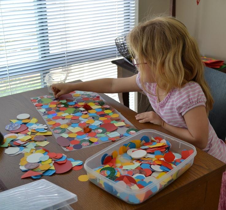 Contact Paper Mosaics