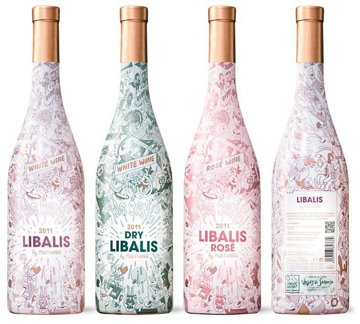 Personnellement je ne suis pas fan quand je ne peux voir la couleur de mon vin/spiritueux mais je trouve ce design cute tout de même  Libalis / Brosmind   Design Graphique