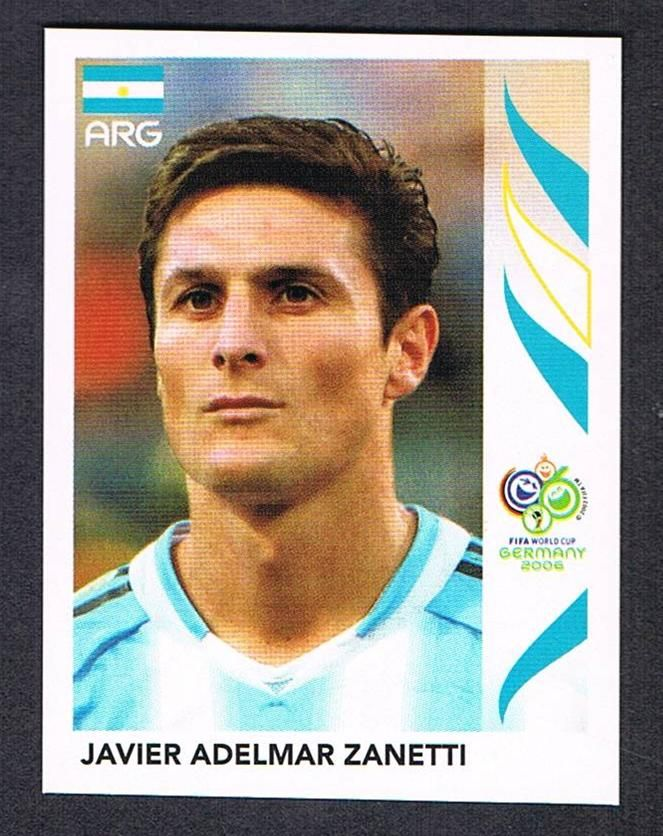 176 Javier Zanetti Panini Germany 2006 World Cup Sticker Argentina Football Team Football Cards Legends Football