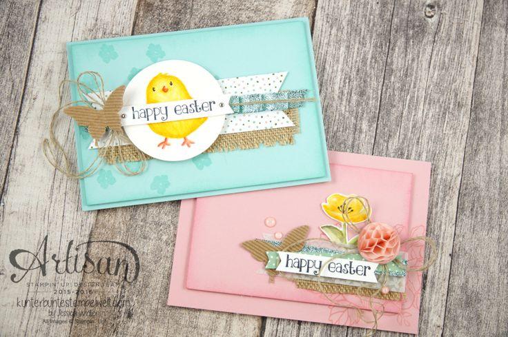 Stampin´ Up! - Artisan Blog Hop - Geburtstagsblumen - So süß - Osterkarten - Mischstifte - Honigwaben - 1
