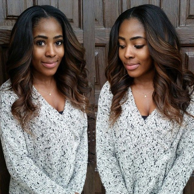 Ombre Hair Color for Black Women (29) - Looking for affordable hair extensions to refresh your hair look instantly? http://www.hairextensionsale.com/?source=autopin-pdnew