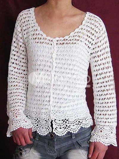 Free Crochet Patterns For Cardigan Sweaters : Crochet Pattern Central - Free Womens Cardigans and ...