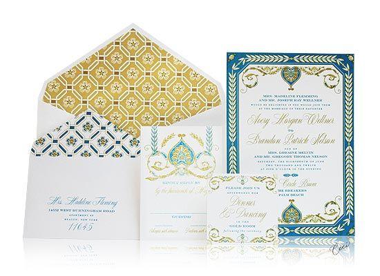 Royal Palazzo Wedding Invitations, Ceci New York For The Breakers