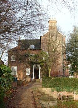 Garden view of the Erewash Museum on High Street, Ilkeston