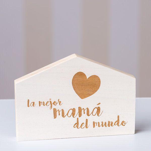 "Casita ""La mejor mama…"" 17x12x2cm"