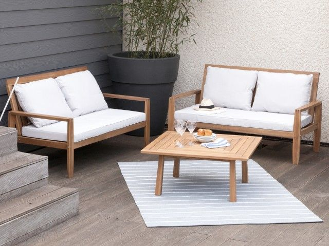 547 best MOBILIER JARDIN images on Pinterest | Acacia, Couch table ...