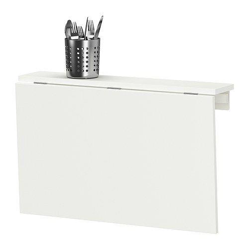 NORBERG Klaptafel voor wandmontage, wit