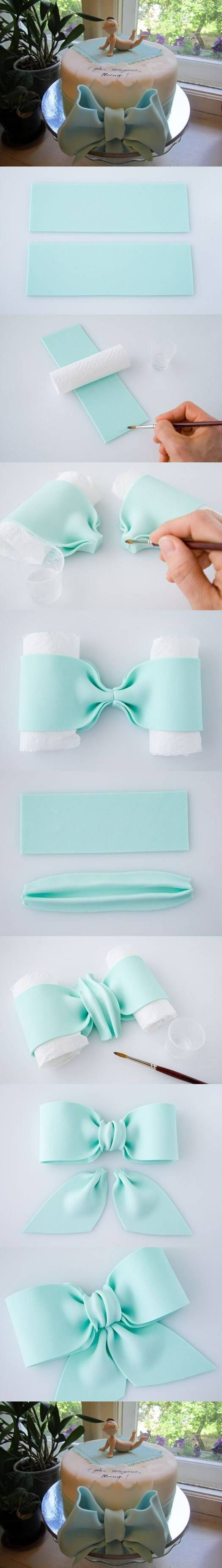 how to make a fondant bow tie