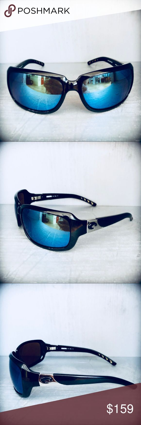 🌊🛥Costa Del Mar Sunglasses Isabela Beautiful preloved Costa Del Mar sunglasses in very good condition! They have lifetime warranty with Costa del Mar. They are 💯% authentic!   Specifications: Model: Isabela Frame fit: Large Frame color: Black  Lens color: Green Mirror Lens material: Polarized Plastic (580) Frame width: 127mm Bridge width: 17.2mm Lens width: 63.2mm Lens height: 39.5mm Temple arm length: 124mm Costa Del Mar Accessories Sunglasses