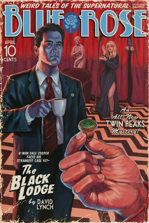 "Twin Peaks pulp, ""Blue Rose"", by Stephen Andrade"
