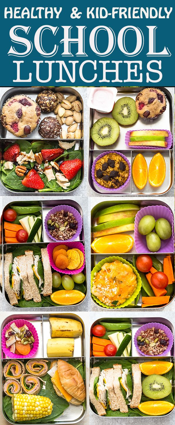 6 Healthy School Lunches Easy Kid Friendly That Are Perfect For Picking Eaters To Start The Healthy School Lunches Lunch Recipes Healthy Dairy Free Dinner