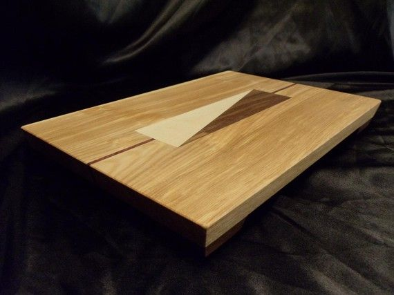 Ash Cutting Board w/ Feet by DPcustoms on Etsy