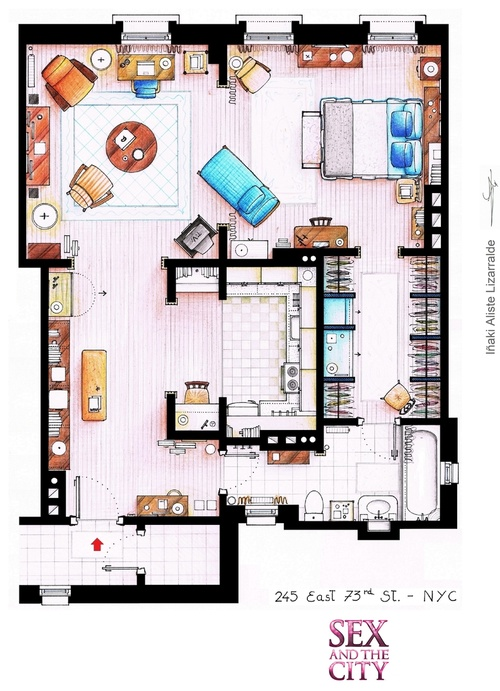 Sex and The City floor plan