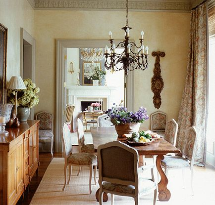 107 best images about designer suzanne kasler on for Small country dining room ideas