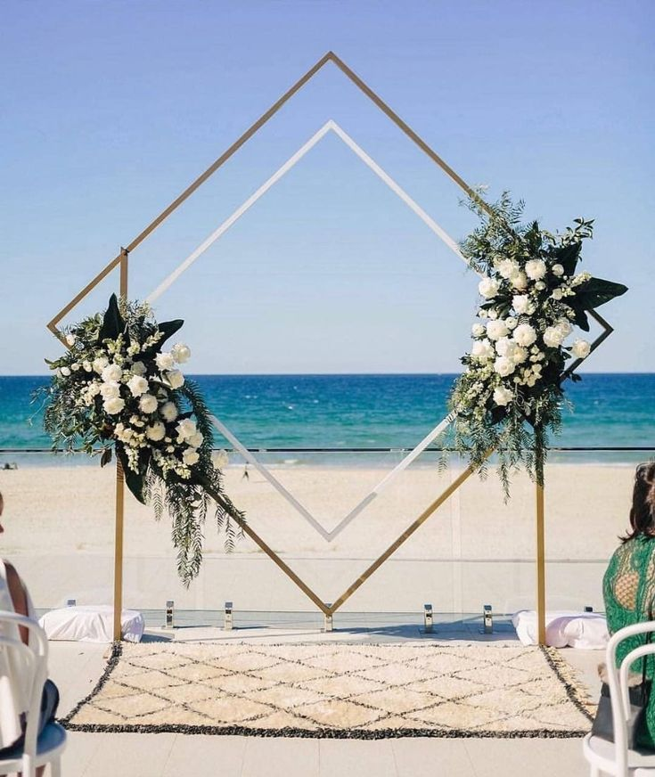 Beach ceremony inspiration – Paul Bamford #wedding #ceremony #backdrop #decor #f… – Hochzeitsgeschenk