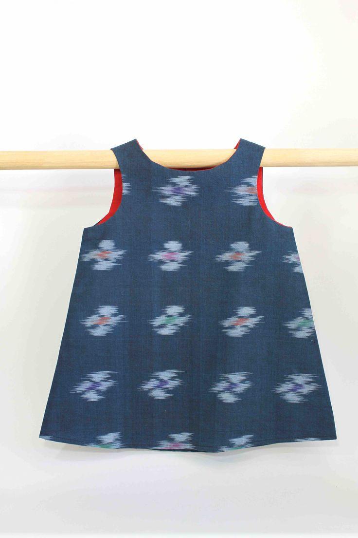 Dark Blue Blur Dress with Red Lining