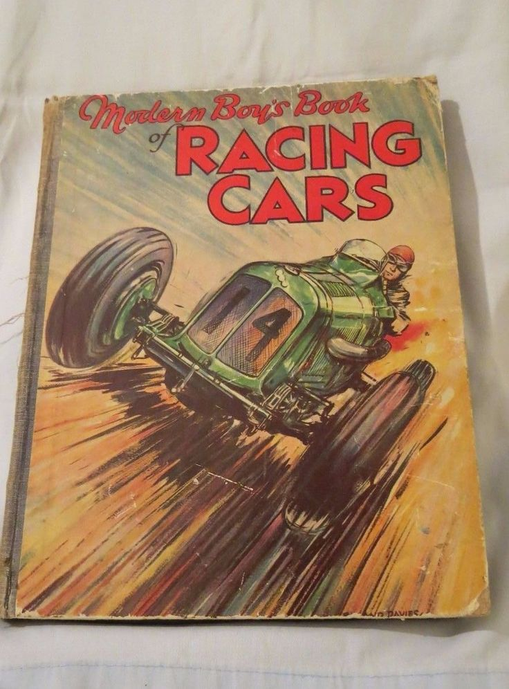 Vintage Modern Boys Book Of Racing Cars 1930s Auto