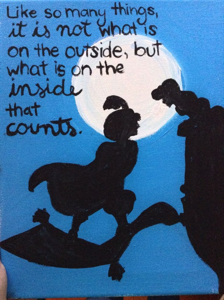 Aladdin quotes and canvas, acrylic, sky night