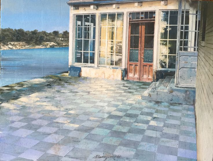 Matteo massagrande la terrazza 2016 mixed media on board 235