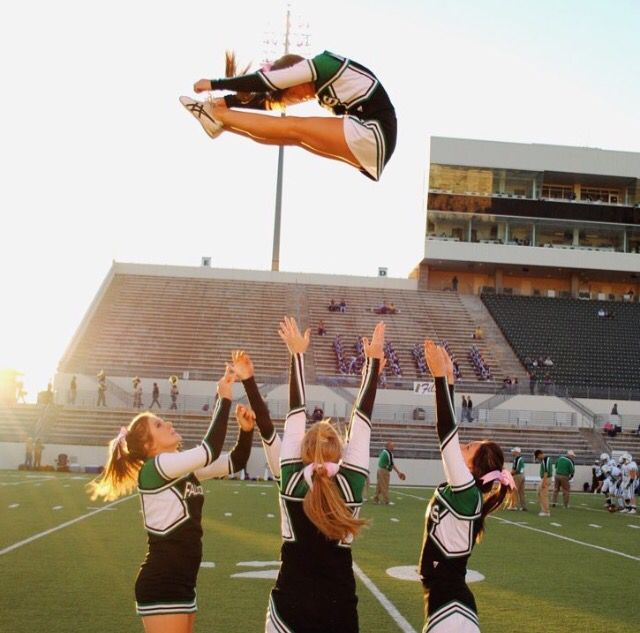REPIN if you love cheering for game day!  For tons of cheerleading stunting tips, check out CheerleadingInfoCenter.com