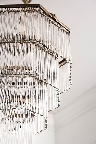 Antique French crystal chandelier -  Linda McDougald Design | Postcard from Paris Home