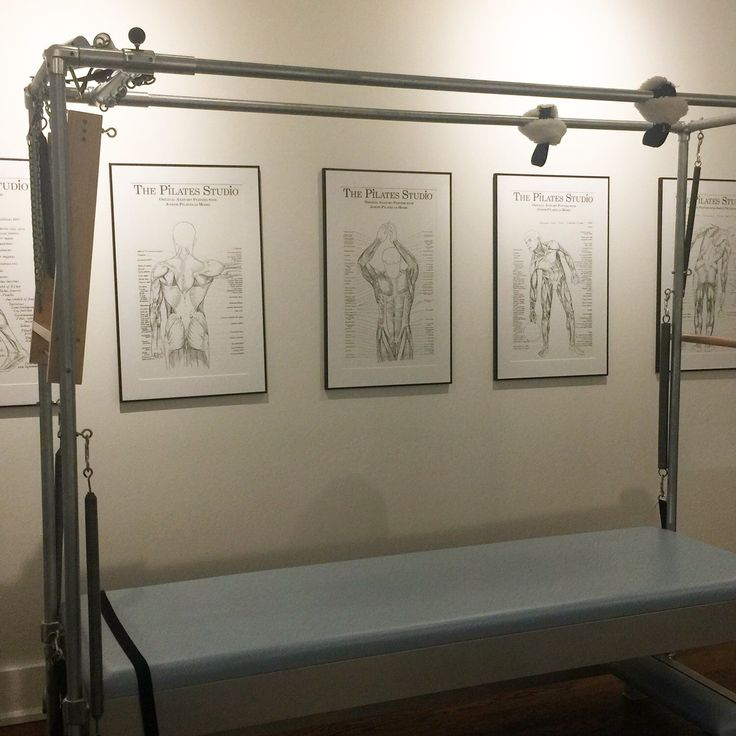 The Pilates Anatomy Posters hanging at Lili Viola Pilates in Toronto, Canada.