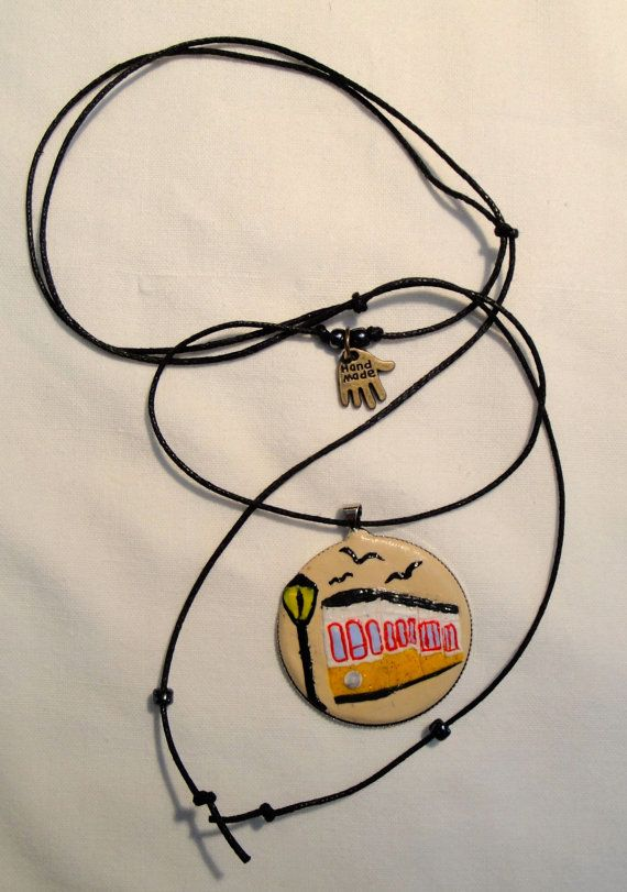 Electric Train Necklace by CantinhoDaNina on Etsy