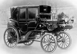 WORLD'S FIRST TAXI: The world's first motorized taxi with a meter was built in 1897 by Gottlieb Daimler and called the Daimler Victoria and was sold to Stuttgart transportation and was used to start the world's first motorized taxi company that same year.