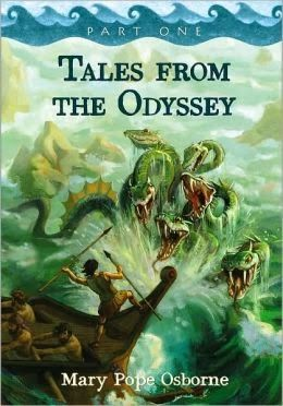 TALES FROM THE ODYSSEY : PART 1 by Mary Pope Osborne. Originally published as 6 shorter chapter book length books, this two volume set is perfect for readers not quite ready for Rick Riordan's books or just really interested in Greek Mythology. Osborne's adaptation is the perfect introduction to this classic!