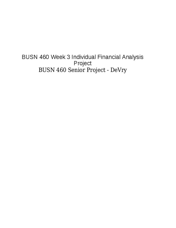 busn 460 cango senior project Busn460 individual financial analysis project student name: instructions: go to  the cango intranet found in the report guide tab under course home use the.