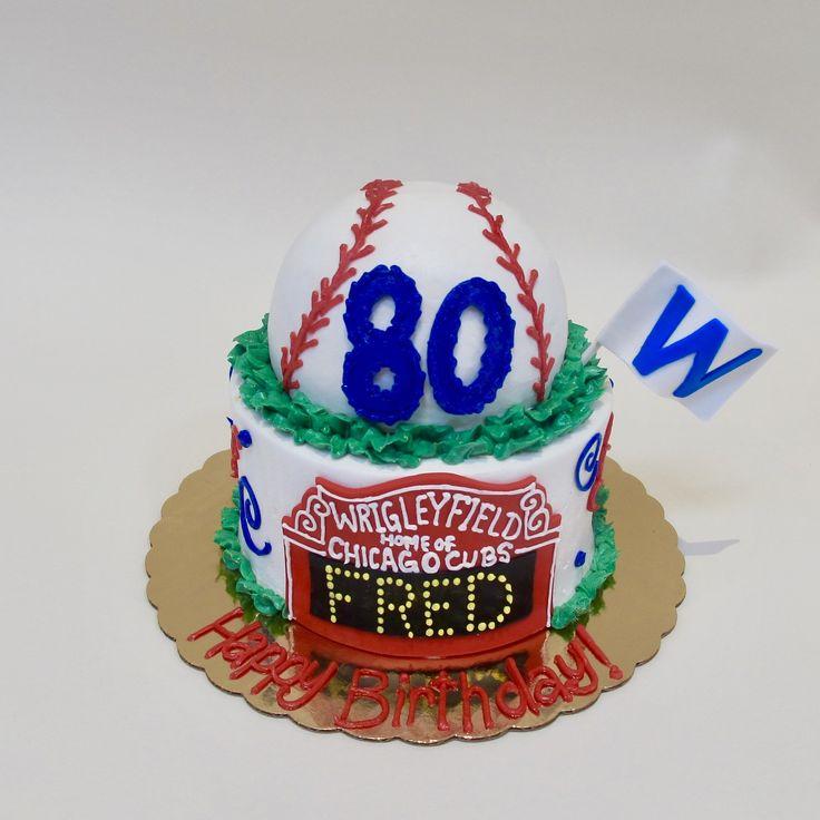 Best 25+ Chicago Cubs Cake Ideas On Pinterest