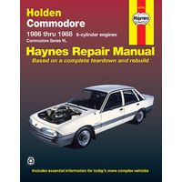 Holden Commodore VL 6 Cylinder 1998-2006 Workshop Repair Manual with MPN HA41741