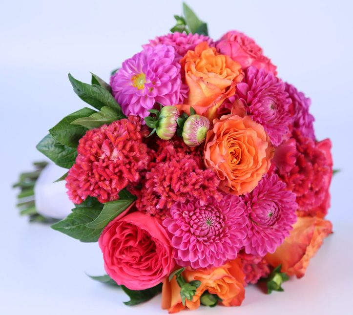 Modern Bridal Bouquets Wedding Flowers In Kansas City Mo Featuring Bold Bright Colors