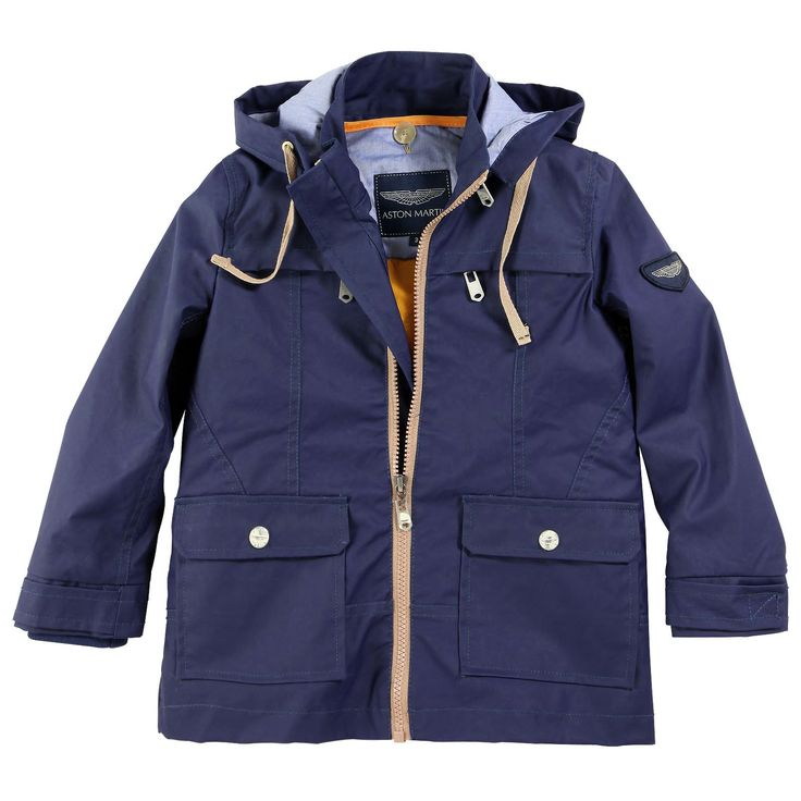 Navy Blue Rain Coat