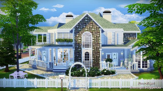 White Lily house by Julia Engel at Frau Engel via Sims 4 Updates