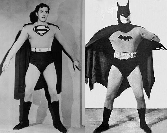 George Reeves' costumes on display, black & white and ... |Superman Black And White Tv Show