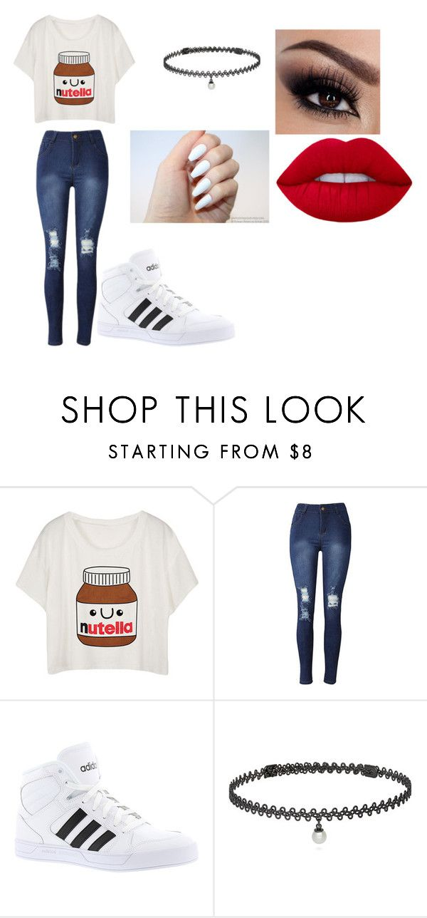 """Untitled #152"" by cruciangyul on Polyvore featuring adidas and BERRICLE"