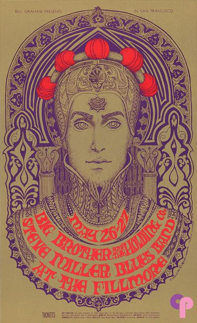 Classic Poster - Big Brother and the Holding Company at Fillmore Auditorium 5/26-27/67 by Bonnie MacLean