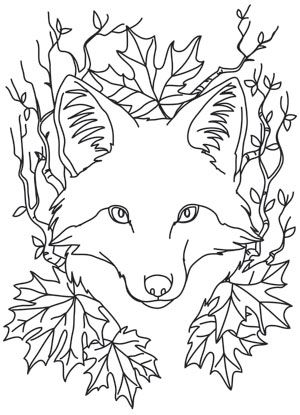 Nocturnus - Fox | Urban Threads: Unique and Awesome Embroidery Designs