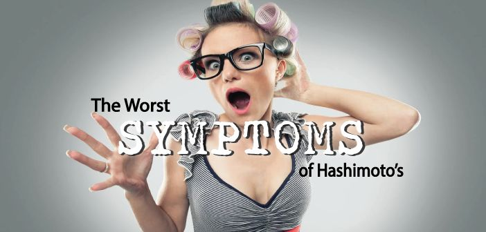 You might not notice signs or symptoms of Hashimoto's disease at first, or you may notice a swelling at the front of your throat. Hashimoto's
