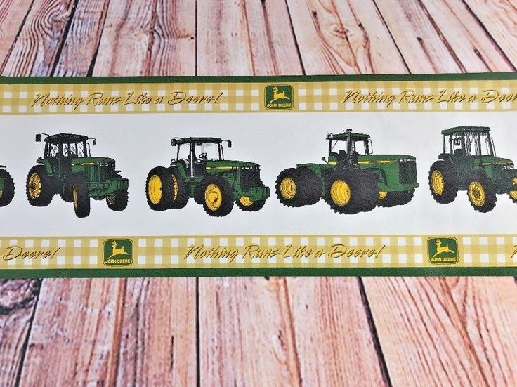 John Deere Prepasted Wallpaper Border Nothing Runs Like a Deere 62730 4+ Yard A7  | eBay