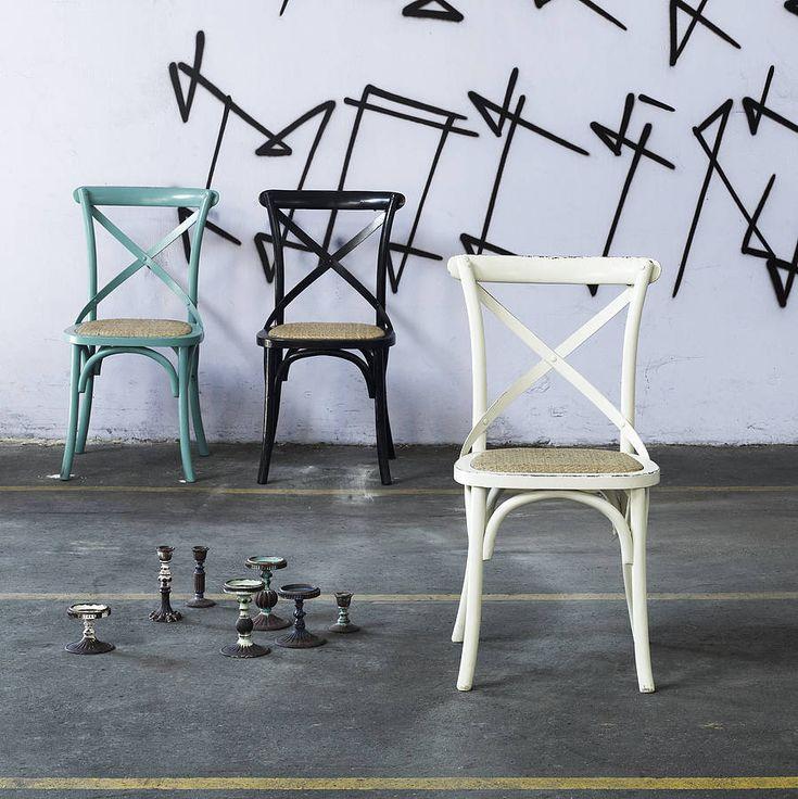 cross back dinner chair by idea home co | notonthehighstreet.com