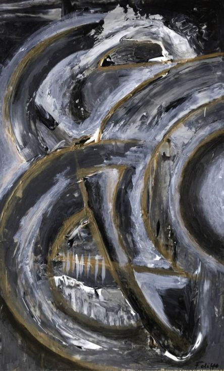 """Buy Wheels Keep Turning! 17 x 28"""", Acrylic painting by Florence Cliffe on Artfinder. Discover thousands of other original paintings, prints, sculptures and photography from independent artists."""
