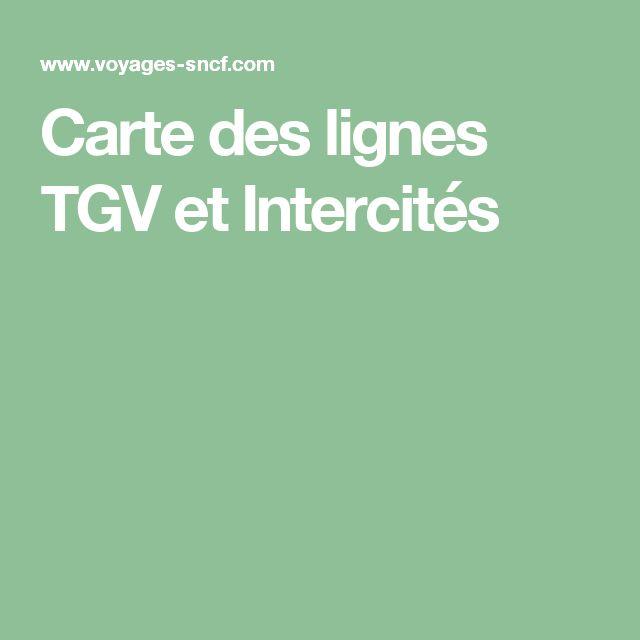 Carte des lignes TGV et Intercités